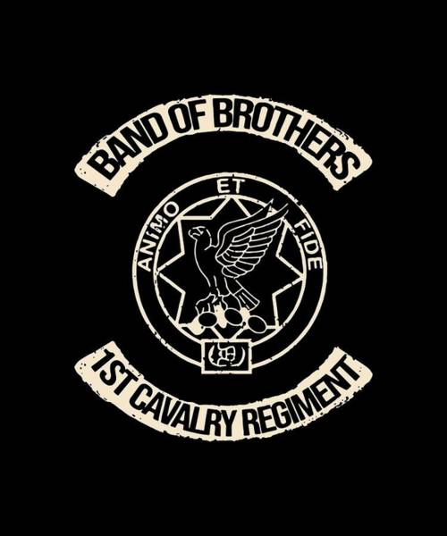 Cajal Wall Art - Digital Art - Band Of Brothers First Cavalry Regiment Animo Et Science by Dominic Wolinski