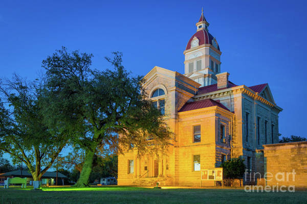 Wall Art - Photograph - Bandera County Court House by Inge Johnsson