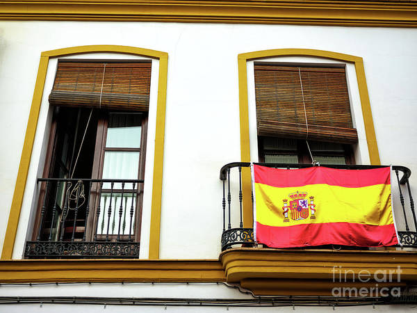 Photograph - Bandera De Espana In Seville by John Rizzuto
