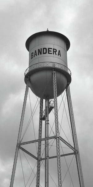Wall Art - Photograph - Bandera Water Tower In Texas by Art Block Collections