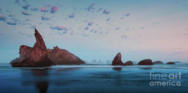 Photograph - Bandon Blue Sunset by Doug Sturgess