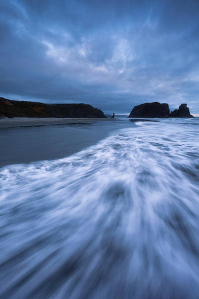 Wall Art - Photograph - Bandon Blues With Moon by Darren White