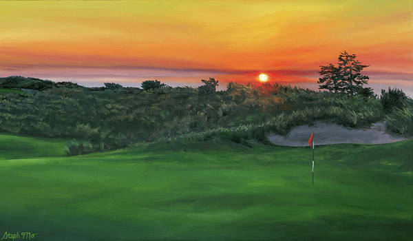 Painting - Bandon Dunes Sunset by Steph Moraca