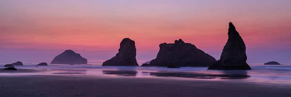 Photograph - Bandon Face Rock Panorama by James Eddy