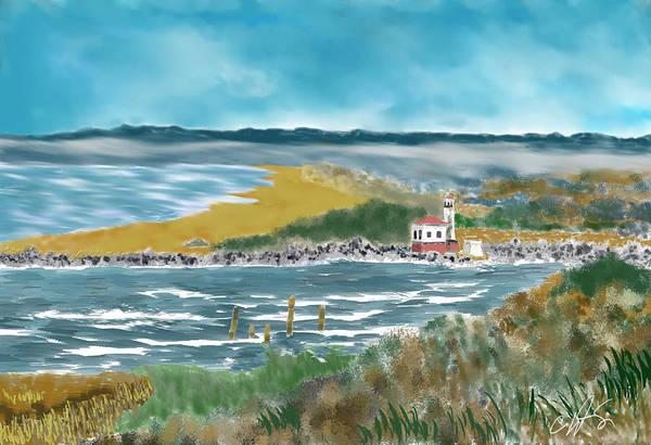 Oregon Coast Digital Art - Bandon Lighthouse by Dale Stillman