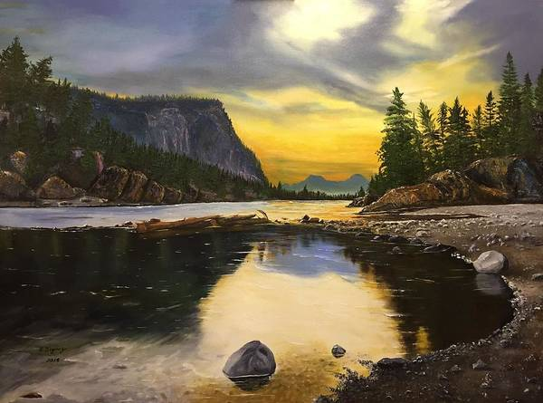 Painting - Bow River Sunrise  by Sharon Duguay