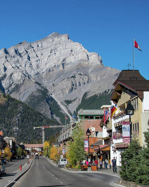 Photograph - Banff Town Center And Cascade Mountain  by Tim Kathka