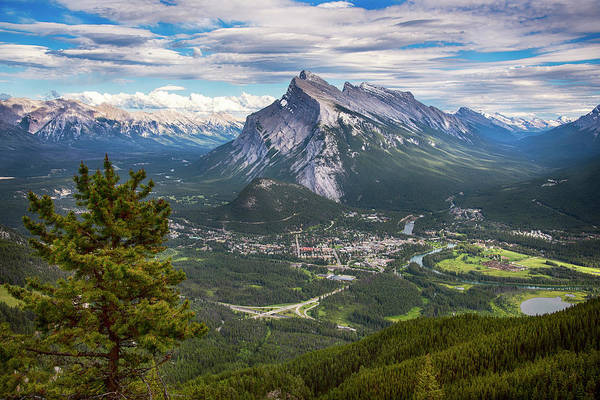 Wall Art - Photograph - Banff Town In Canadian Rockies by Dave Dilli