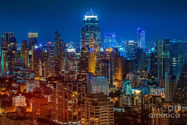 Night View Wall Art - Photograph - Bangkok Night by Mr renderman
