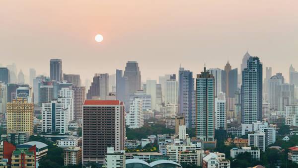 Photograph - Bangkok Skyscraper Skyline by Deimagine