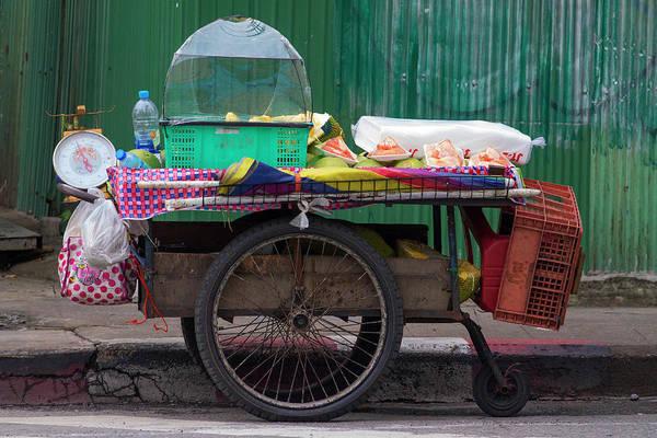 Retail Photograph - Bangkok_itinerant Fruit Shop by Jean-claude Soboul