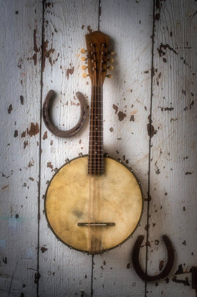 Bluegrass Photograph - Banjo And Horseshoes by Garry Gay