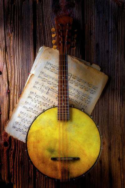 Wall Art - Photograph - Banjo And Sheet Music by Garry Gay