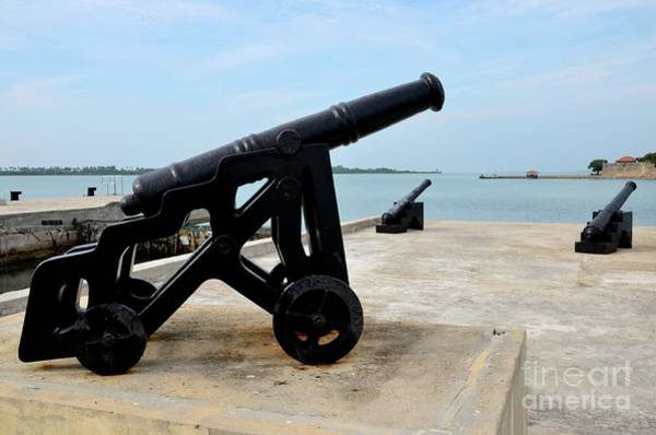 Photograph - Bank Of Canons Protecting Jaffna Sea Lanes Across From Fort Hammenhiel Sri Lanka by Imran Ahmed