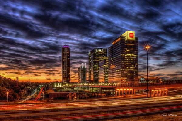 Georgia Power Company Photograph - Banking Giants 3 Atlantic Station Sunset Atlanta Georgia Art by Reid Callaway