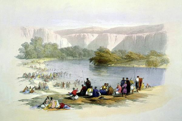 Wall Art - Photograph - Banks Of The Jordan River 1839 by Munir Alawi