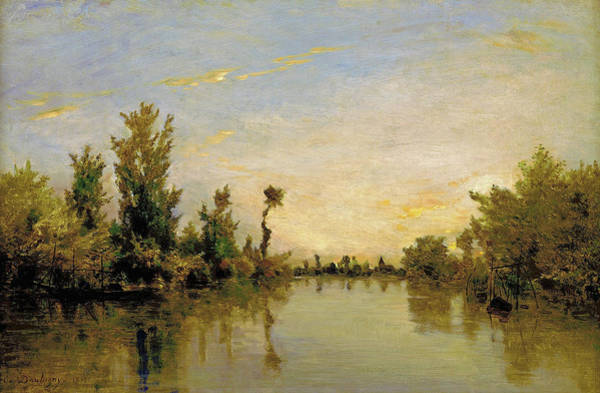 Wall Art - Painting - Banks Of The Seine - Digital Remastered Edition by Charles-Francois Daubigny
