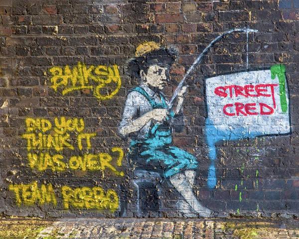 Photograph - Banksy Boy Fishing Street Cred by Gigi Ebert