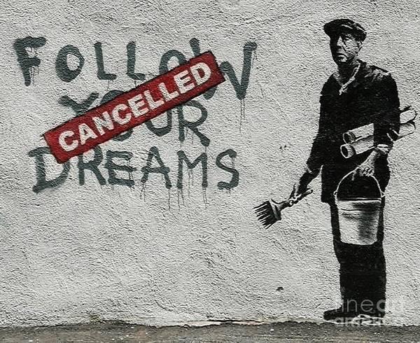 Streetart Mixed Media - Banksy Follow Your Dreams by Streetart