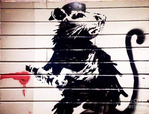 Streetart Mixed Media - Banksy Haight Street Rat by Streetart