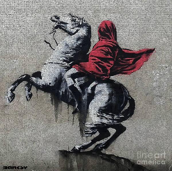 Streetart Mixed Media - Banksy Napoleon Paris by Streetart