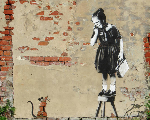 Photograph - Banksy New Orleans Girl And Mouse by Gigi Ebert