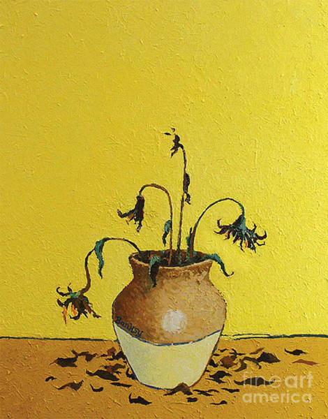 Streetart Mixed Media - Banksy Sunflower by Streetart