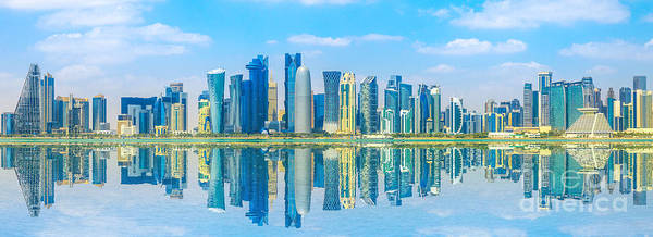 Photograph - Banner Doha Skyline by Benny Marty