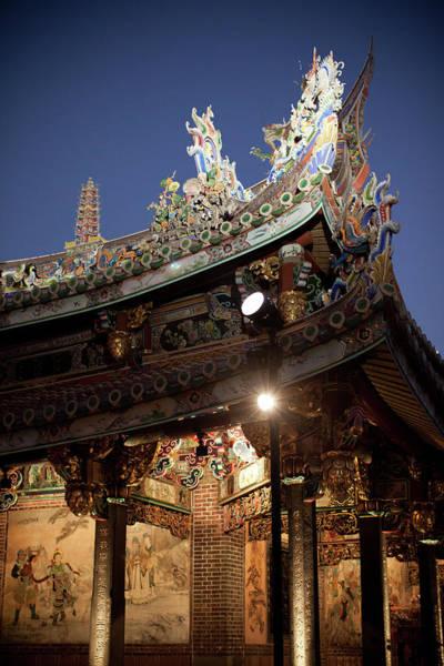 Taiwanese Wall Art - Photograph - Bao-an Temple Roof by Alex Wu