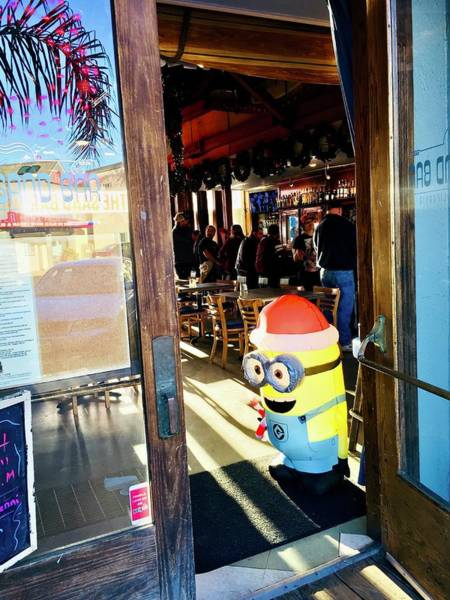 Greeters Photograph - Bar Fly Minion by Christina Ford