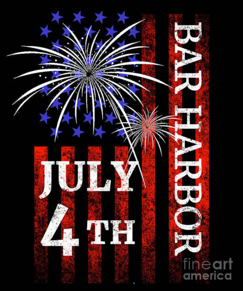 Bar Harbor Digital Art - Bar Harbor 4th Of July Independence Day by Beth Scannell