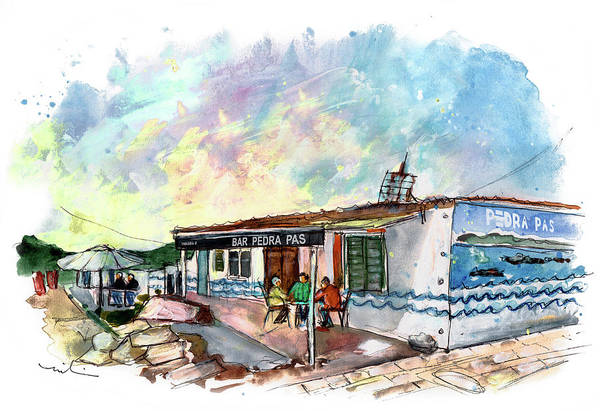 Painting - Bar Pedra Ras In Portocubelo In Galicia by Miki De Goodaboom