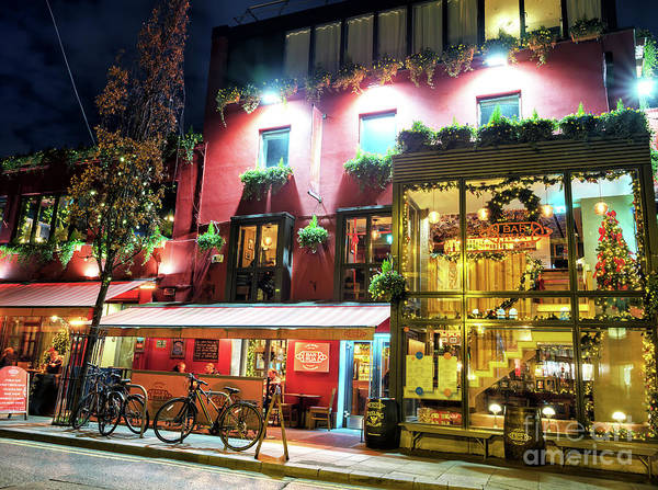 Wall Art - Photograph - Bar Rua At Night In Dublin by John Rizzuto