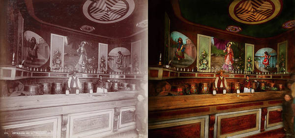 Photograph - Bar - The Drink Of The Gods 1898 - Side By Side by Mike Savad