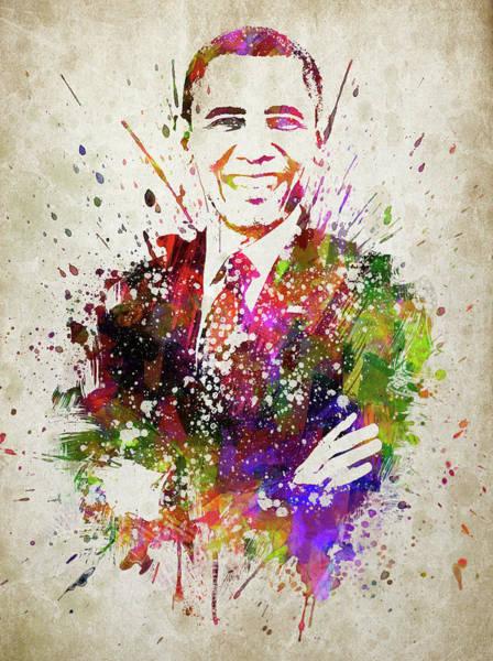 Wall Art - Digital Art - Barack Obama In Color by Aged Pixel