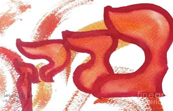 Painting - Barak  Nm23-17 by Hebrewletters Sl
