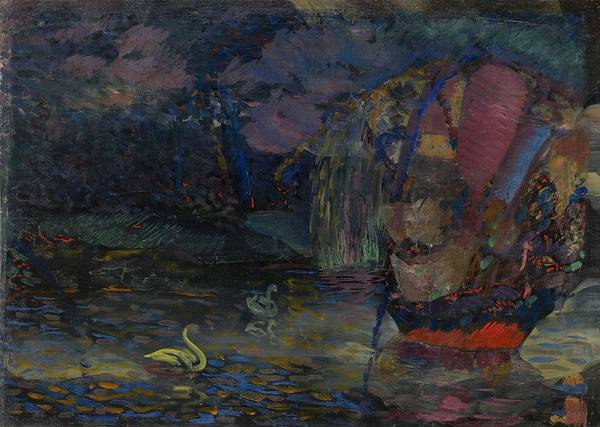 Wall Art - Painting - Baranoff-rossine Vladimir  1888-1944  Fairy Lake by Celestial Images