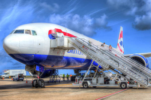 Wall Art - Photograph - Barbados British Airways by David Pyatt