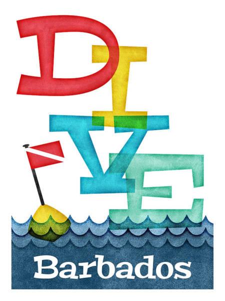 Scuba Digital Art - Barbados Dive - Colorful Scuba by Flo Karp