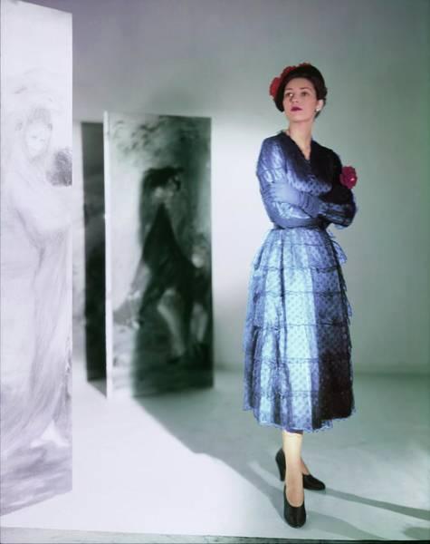 Red Cross Photograph - Barbara Mullen In A Balenciaga Dress by Horst P. Horst