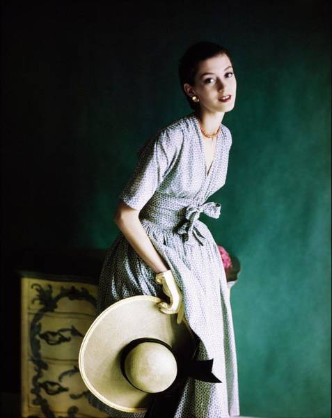 Lawn Furniture Photograph - Barbara Mullen In A Townley Dress by Horst P. Horst