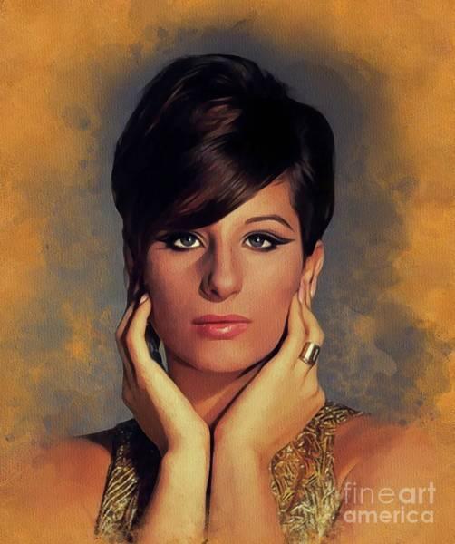 Wall Art - Painting - Barbara Streisand, Legend by John Springfield