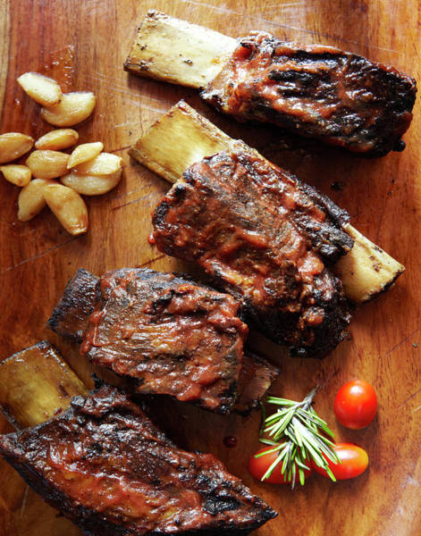 Barbeque Photograph - Barbecue Short Ribs On The Bone by Jacob Snavely