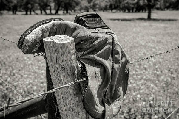 Photograph - Barbed Wire Boot by Paul Quinn