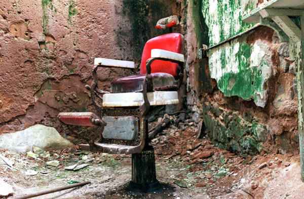 Photograph - Barber Chair At Eastern State Penitentiary by John Rizzuto