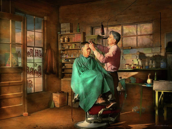 Colgate Wall Art - Photograph - Barber - Jh Parham Barber And Notary Public 1941 by Mike Savad