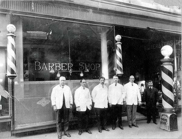 Photograph - Barber Shop by Vintage Images