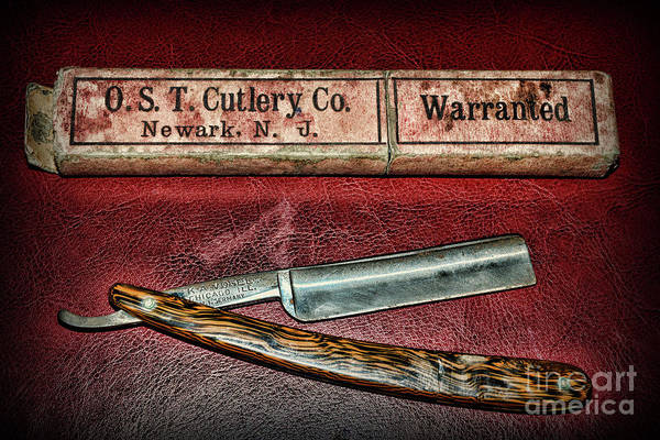 Wall Art - Photograph - Barber Straight Razor Warranted  by Paul Ward