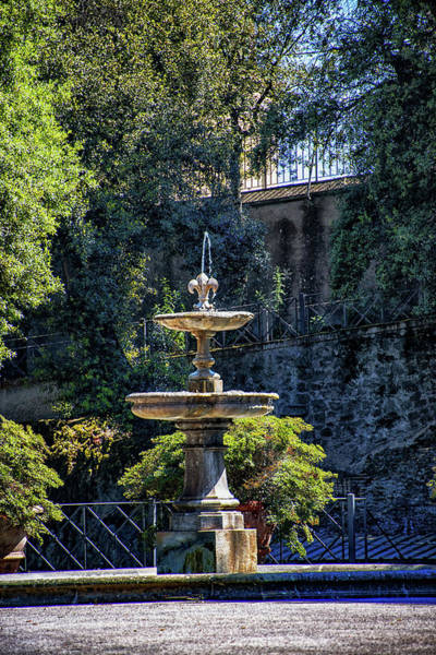 Apostolic Palace Photograph - Barberini Gardens Fountain by Joseph Yarbrough