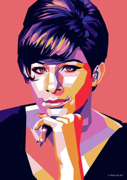 Pop Star Digital Art - Barbra Streisand Pop Art by Stars-on- Art